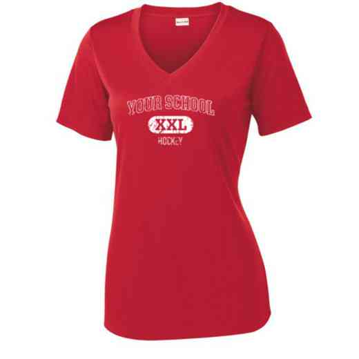 Hockey Sport Tek Womens V-Neck Competitor T-shirt